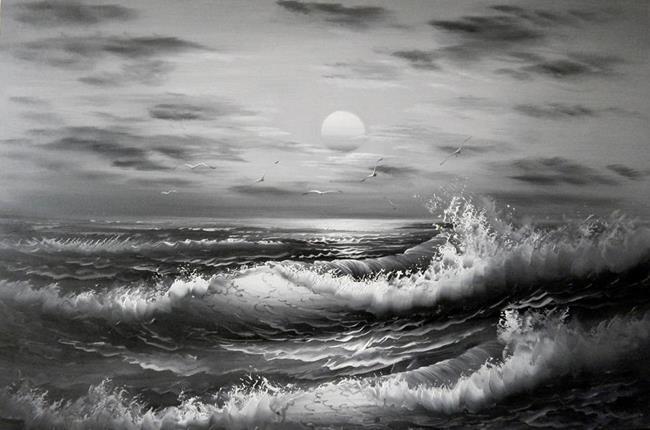 Черное штормовое море