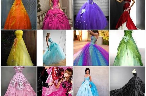 Невесты в разноцветных платьях