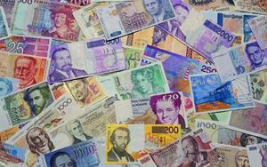 Разноцветные деньги