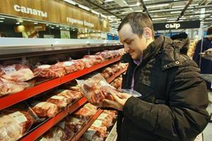 Мясо на прилавке