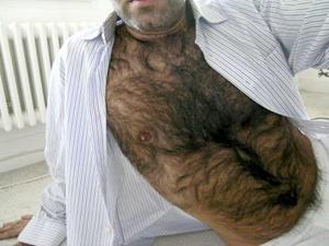 волосатая грудь мужика