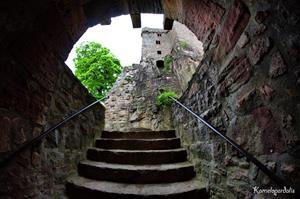 Лестница в старинном замке