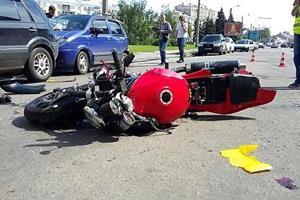Мужчина задавил на мотоцикле женщину