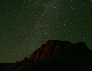 Тусклые звёзды на небе