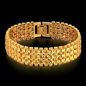 Толстый золотой браслет