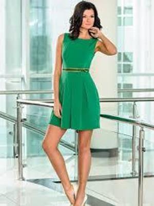 Красивое зеленое платье во сне