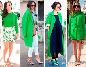 Яркие оттенки зелени в повседневной одежде