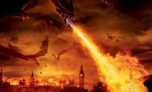 Извергающий пламя дракон
