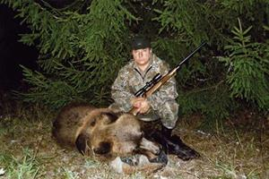 Охота в лесу