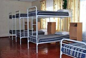 Кровать в казённом месте