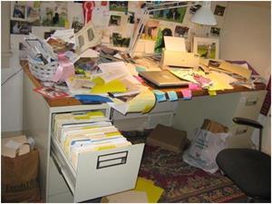 Беспорядок на рабочем столе