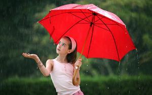 Красный зонт