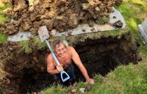 Копание могилы