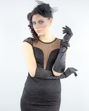 Перчатки под вечернее платье