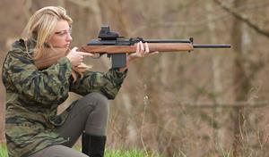 Женщина с ружьём