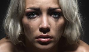 Заплаканное лицо