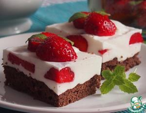 Пирожные с клубникой