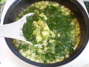 Суп из зелени
