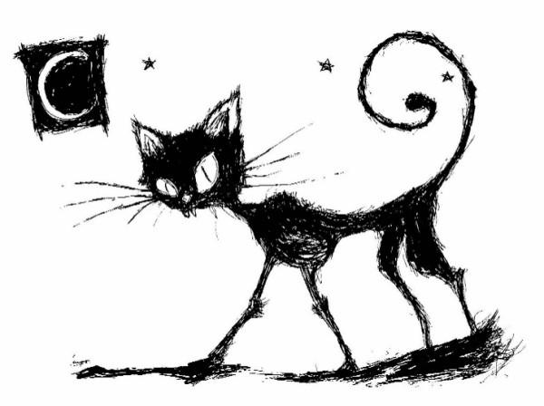 Рисунок с кошкой