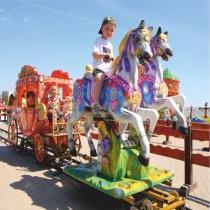 Детский аттракцион с лошадками
