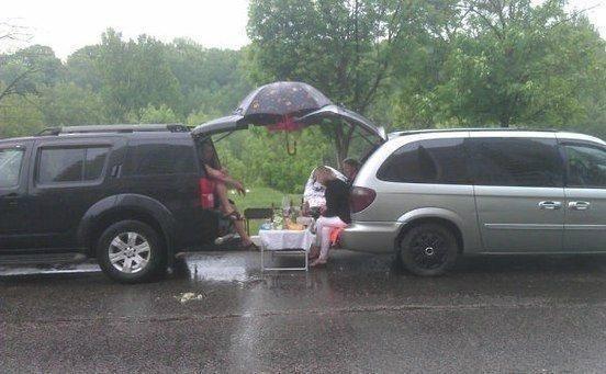 Дождь на пикнике
