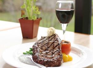 Мясо с вином