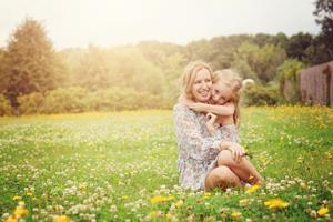 Дочка блондинка