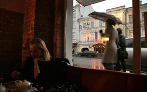 Переждать дождь в ресторане