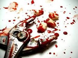 Зубы с кровью