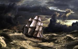 На корбле в шторм