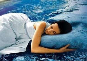 Женщина видит сон