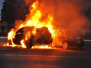 Сгорела машина