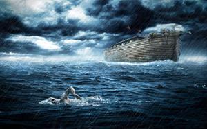 Плывет в океане