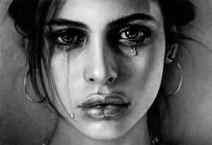 Слезы девушки