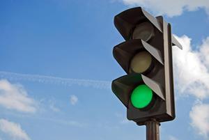 Разрешающий сигнал светофора