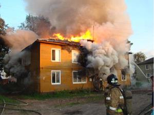 Пожар в соседнем доме