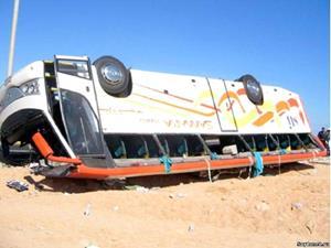 Перевёрнутый автобус
