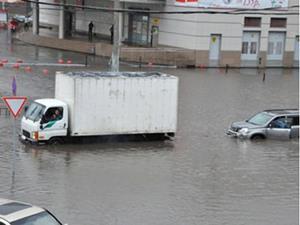Город утопает в воде