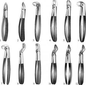 Щипцы стоматолога
