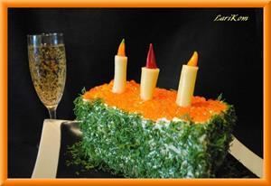 Торт и шампанское