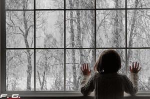 Мокрый снег за окном
