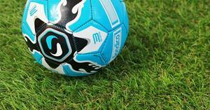 Мелкая трава на футбольном поле