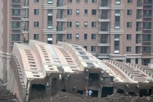 Падение здания