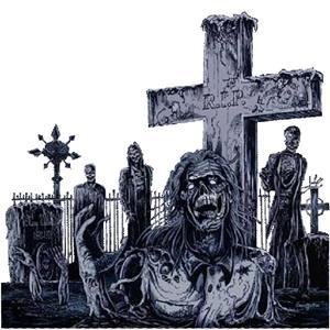 Зомби на кладбище