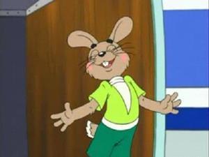 Заяц из мультфильма
