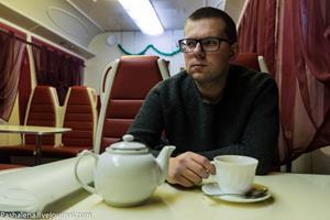 Питьё чая в поезде