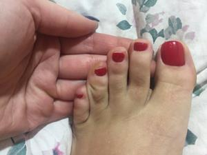 Педикюр на левой ноге