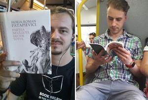 Чтение книги в метро