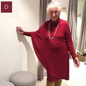 Бабушка в новом платье