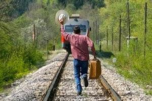 Убегать от поезда